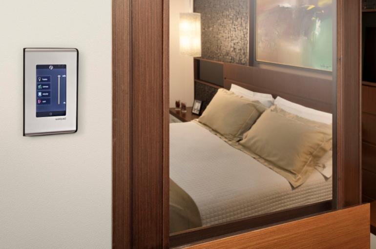 O WallPad funciona como uma central de controle de todos os equipamentos automatizados da casa