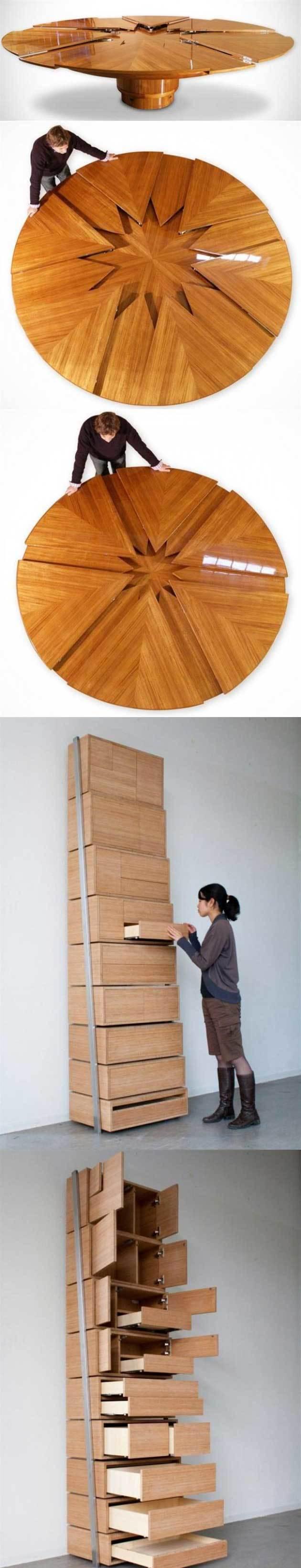 Móveis com design incrível para compactar espaços para sua casa