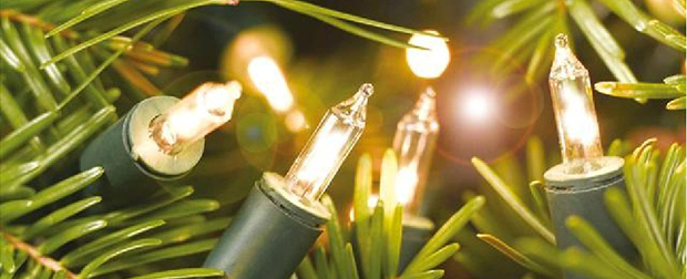 Cuidado com a decoração natalina com lâmpadas pisca-pisca
