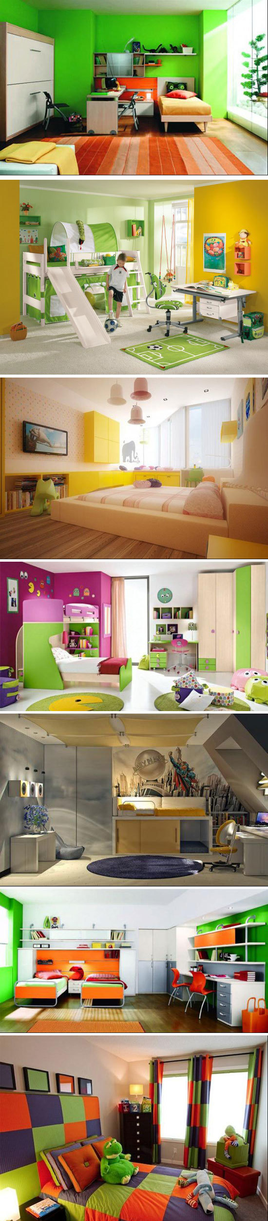 22 Ideias Criativas de quartos infantis que seus filhos irão adorar