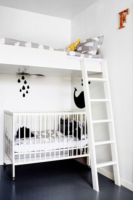 Decora o uma menina um menino e um s quarto ville federa o - Kind mezzanine slaapkamer ...
