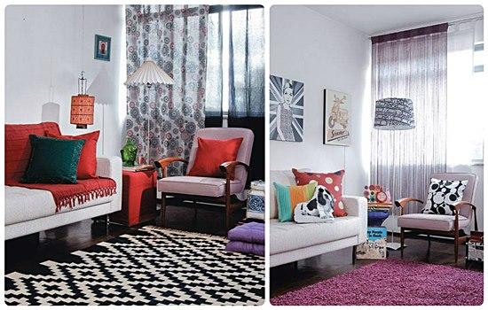 O sofá e a poltrona continuam as mesmas. O restante foi todo mudado