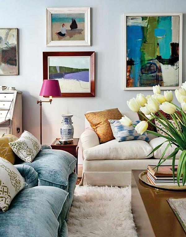 Tapete fofo, quadros de tela, revestimentos macios e com textura, almofadas.