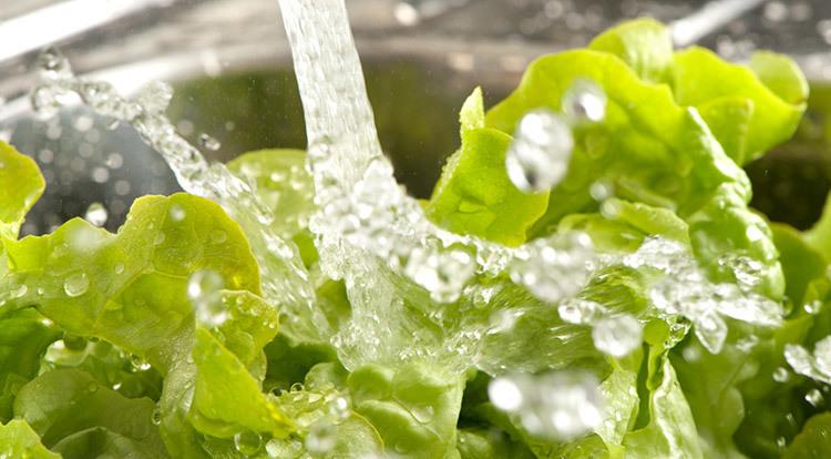 Limpeza de frutas e verduras - economia de água
