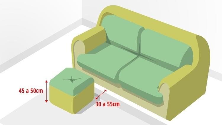 Medidas e posições dos móveis da sala influenciam no conforto